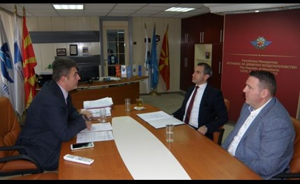 Meeting of the Director General Mr. Tuntev with the Executive Directors of M-NAV Mr.Taseki and Mr.Salmani