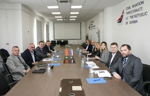 Working meetings held between the delegation of the CAA and the civil aviation authorities of Montenegro and Serbia