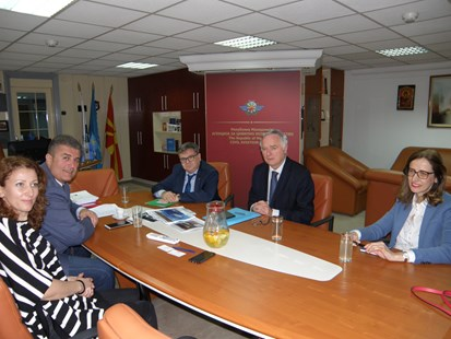 The Director General of the Civil Aviation Agency, Mr. Tuntev, has met with the French Ambassador, Mr. Thimonier