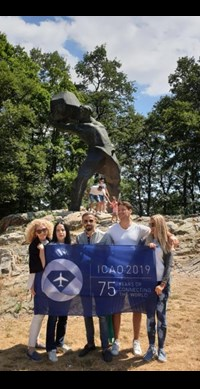 CAA promoted ICAO's 75th anniversary at the 16th World Paragliding Championship