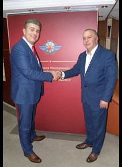 The Director General of the Civil Aviation Agency, Mr. Tuntev held a meeting with the President of the Aircraft Accident and Incident Investigation Committee, Mr. Ilievski