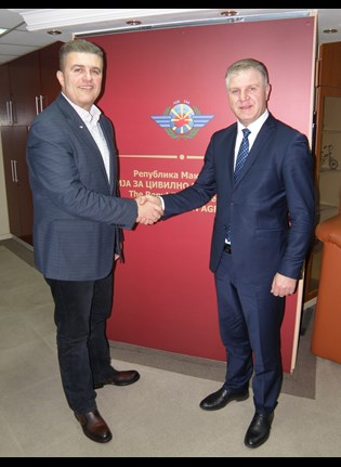 Meeting of the Directors General of the Civil Aviation Agency and the Protection and Rescue Directorate, Mr.Tuntev and Mr.Dzaferoski