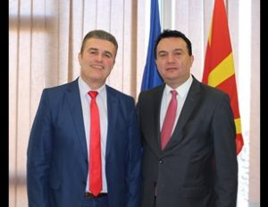 Meeting of the Director General Mr.Tuntev with the Minister of Transport and Communications Mr.Sugareski